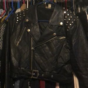 Forever 21 studded Moto jacket